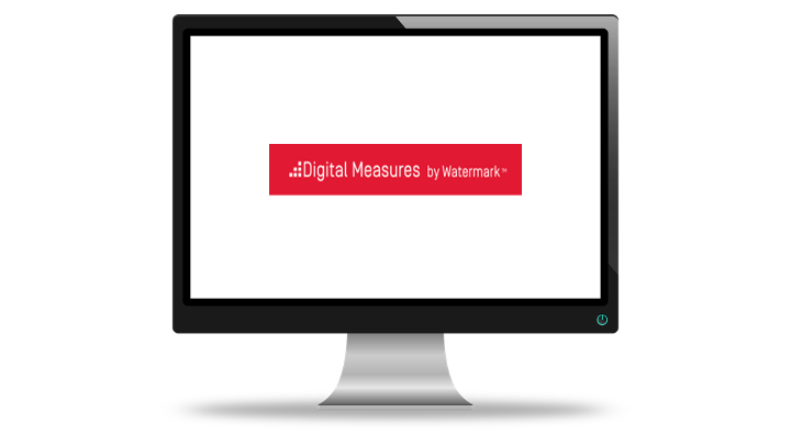 Computer Monitor with Digital Measures logo