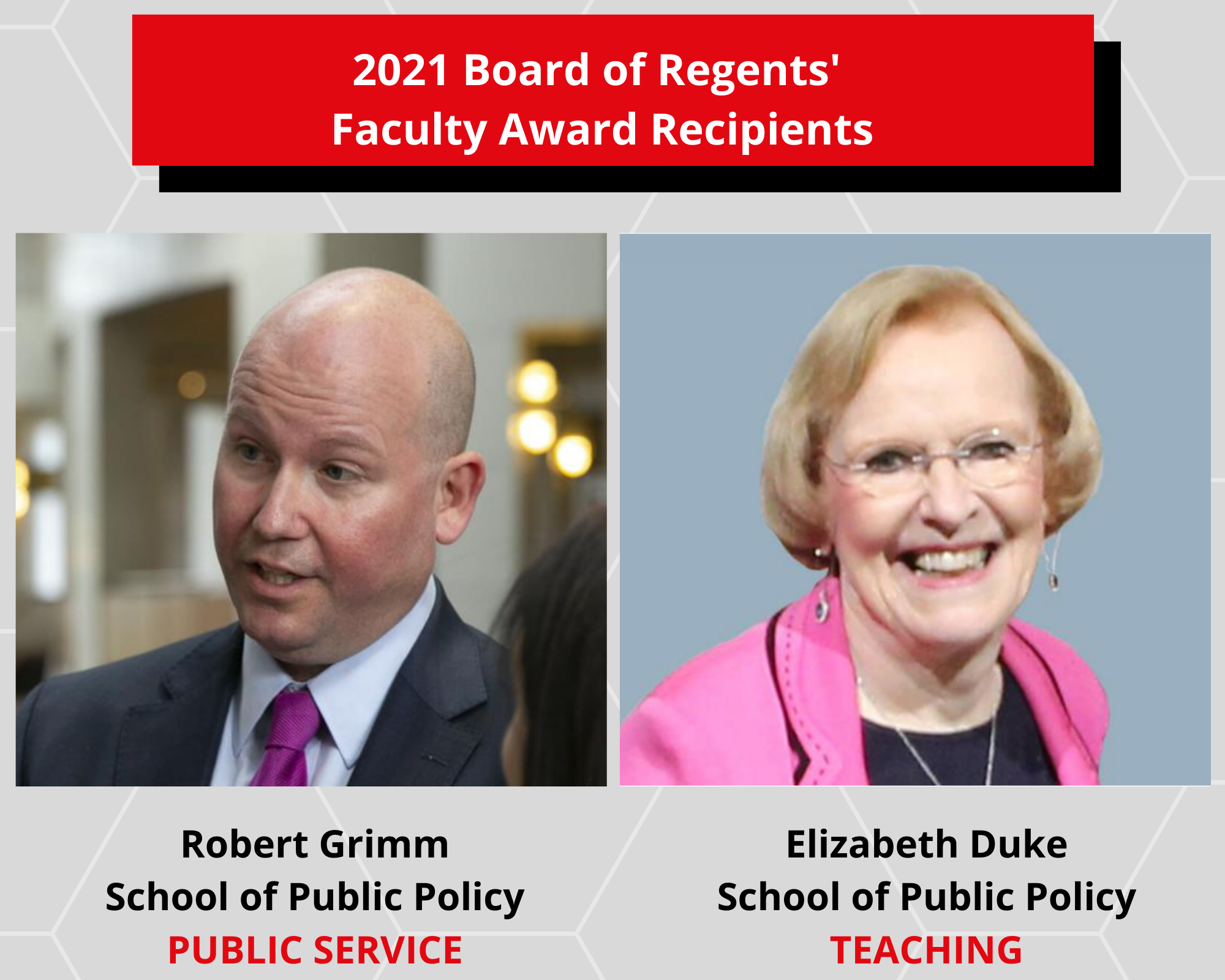 2021 BOR Faculty Award Recipients