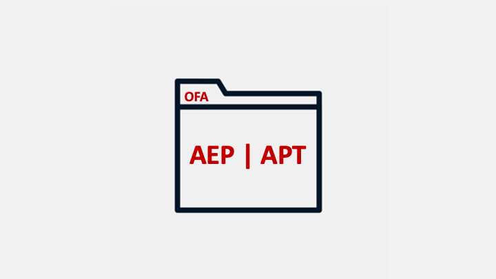 Folder with AEP-APT on outside cover